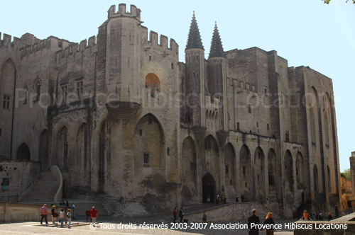 Location Avignon: Palais des papes